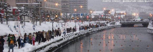 passeggiata-sotto-la-neve-in-otaru