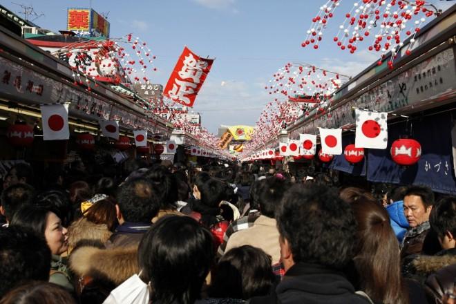 Visita per il nuovo anno al tempio di Senso-ji