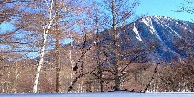 Neve sul monte Nantai