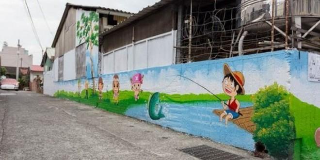 Anime murales in Taiwan