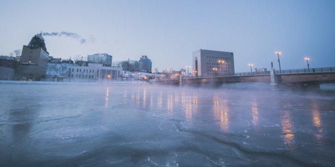 Il fiume Kushiro d'inverno