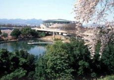 La città di Maebashi in primavera