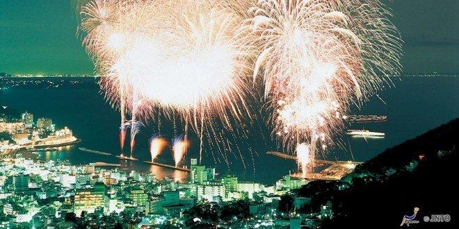 Lo spettacolo pirotecnico di Atami