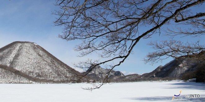 Il monte Haruna innevato
